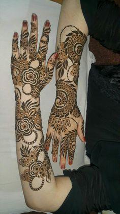 Khafif Mehndi Design, Floral Henna Designs, Mehndi Designs Book, Full Hand Mehndi Designs, Mehndi Designs 2018, Modern Mehndi Designs, Mehndi Design Pictures, Mehndi Designs For Girls, Beautiful Henna Designs