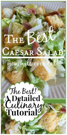 StoneGable Caesar Salad… It's really all about the dressing! I make mine in a blender, but it could be made by hand as well. Make a double or triple batch and freeze the leftover dressing in ice cube trays. Pop out the frozen dressing and keep it frozen i Chicken Ceaser Salad Recipe, Grilled Chicken Ceasar Salad, Ceasar Salad Recipe Easy, Caesar Salad Recipes, Salad Dressing Recipes, Healthy Salad Recipes, Salad Dressings, Sauces, Gourmet