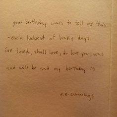 e.e. cummings: birthday poem