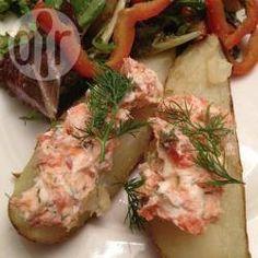 Gebackene Kartoffelviertel mit Lachs @ de.allrecipes.com