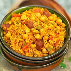 How to make Rice with Garbanzo Beans - Arroz con Garbanzos - Simple, Easy-to-Make Cuban, Spanish, and Latin American Recipes with Photos