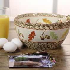 temp-tations® Old World 4-qt. Mixing Bowl in Harvest with Matching Whisk & Recipe Cards :: temp-tations® by Tara