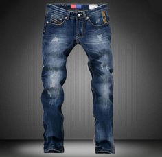 High Quality Mens Jeans Famous Brand Designer Straight Slim