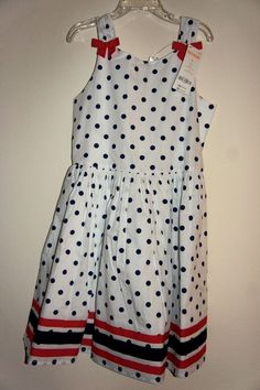 Gymboree Polka Dot 4 July Patriotic Dress Size:8 (7-8 years), 10 (8-9 years) #Gymboree #DressyEverydayHoliday