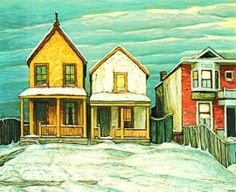Lawren Harris Houses IN Winter, Canadian Group of Seven Tom Thomson, Emily Carr, Group Of Seven Art, Group Of Seven Paintings, Canadian Painters, Canadian Artists, Picasso, National Art, Landscape Paintings