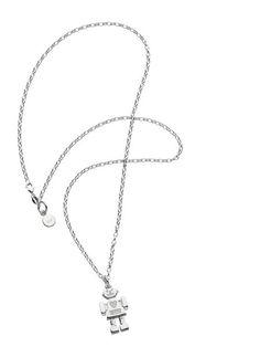 2c6300c90c17 Mrs Robot Pendant in Silver by Karen Walker