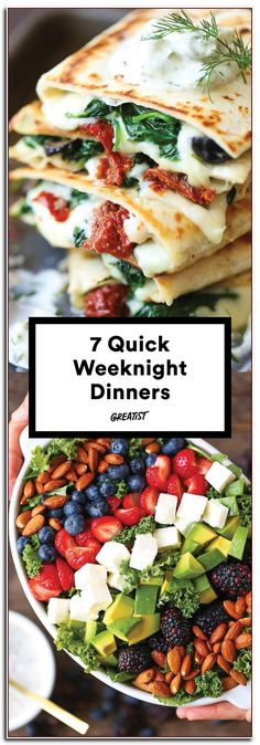 7 Quick-Fix Dinners That Make Weeknight Cooking a Cinch Make them for a dinner party or live off the leftovers for the next three days easy dinner recipes greatist Quick Weeknight Dinners, Fast Dinners, Easy Healthy Dinners, Healthy Snacks, Healthy Eating, Healthy Recipes, Healthy Dinners For Families, Easy Healthy Weeknight Dinners, Dinner Ideas Healthy