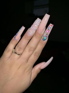 Nail Designs are continually changing, but one thing that doesn't change is the effect a good manicure can have on Bling Acrylic Nails, Aycrlic Nails, Best Acrylic Nails, Bling Nails, Swag Nails, Summer Acrylic Nails, Pastel Nails, Cute Acrylic Nail Designs, Fire Nails
