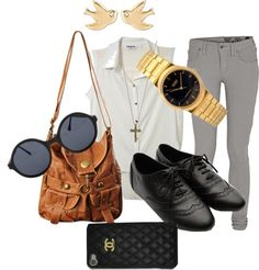 """""""We're Fabuu Chic !!"""" by briana-gogoua ❤ liked on Polyvore"""