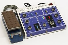 Los Angeles Guitar ShopFor sale is this vintage 1976 Musitronics Mu-Tron Bi-Phase electric guitar phaser effects pedal. This particular example, (serial number 04674), is in excellent all original condition and includes the original C-100 Opti-Pot control pedal (serial number 1428). With significant provenance, this unit belonged to Elektra Records (with Elektra labeled inventory numbers 1190 and 1193) and was used by numerous artists on dozens of classic records. While no exact list was…