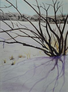 Coupon code small watercolor landscape of by TerriRobertsonArt