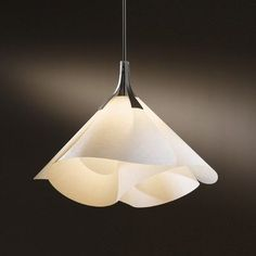 Hubbardton Forge Mobius Pendant Shade: Spun Frost, Finish: Opaque Black