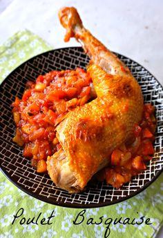 Recette de plat facile, savoureux, familial, le poulet basquaise