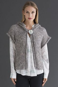 Ravelry: Ophelia Hooded Vest pattern by FDC Design Studio