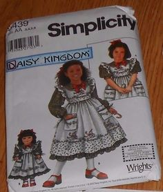 "Simplicity 5439 AA 3 4 5 6 Girls & Matching 18"" American Girl Doll Dress #simplicity #Dress"