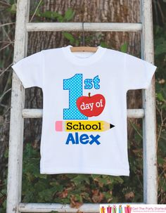 First Day of School Outfit - Personalized Back to School Shirt - Boys First Day of School Shirt with Name - My First Day of Preschool Outfit