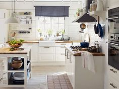 6 Kind Clever Tips: Small Kitchen Remodel With Laundry kitchen remodel ideas sink.Small Kitchen Remodel With Laundry country kitchen remodel curtains. Kitchen Ikea, White Kitchen Cabinets, Rustic Kitchen, Kitchen Interior, Kitchen Decor, Kitchen Island, Kitchen White, Oak Cabinets, Kitchen Appliances
