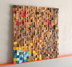 3D Rustic Wood wall Art, Wood wall sculpture Abstract wood art, Woodburning Reclaimed Wood wall Art, Wood mosaic, art, Wood wall art by GBandWood on Etsy