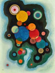 TO THE UNKNOWN VOICE WATERCOLOR AND INDIAN INK BY WASSILY KANDINSKY REPRO