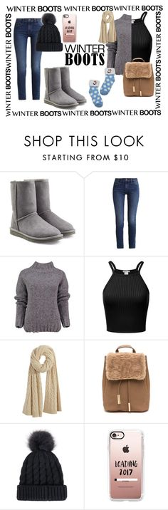 """Winter Boots"" by tiffany777 ❤ liked on Polyvore featuring UGG Australia, Calvin Klein, Lowie, Calypso St. Barth, Casetify and winterboots"