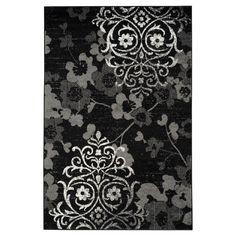 "Norwel Area Rug - Black/Silver (5'1""x7'6"") - Safavieh"