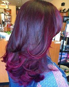 When my hair gets longer! Pressed Natural Hair, Dyed Natural Hair, Dyed Hair, Purple Natural Hair, Bold Hair Color, Cute Hair Colors, Love Hair, Gorgeous Hair, Curly Hair Styles