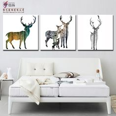 Modern frameless decorative triptych minimalist bedroom living room European style oil unframed painting on canvas discount New-in Painting & Calligraphy from Home & Garden on Aliexpress.com | Alibaba Group