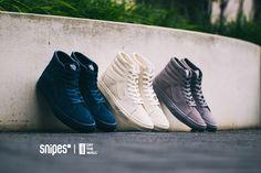 Brandneu und exklusiv bei SNIPES – drei monochrome Colorways des VANS Sk8-Hi! Egal ob du auf Navyblau, Grau oder Off-White stehst, diese drei Sneaker sehen einfach richtig gut aus und sind dank Leder-Upper auch wind- und wetterfest! Ab sofort im SNIPES Onlineshop und in unseren Stores. Artikelnr.: 1001287+1001284+1001286 Preis: 89,99 Euro #snipes #snipesknows #vans #sk8hi #sneaker