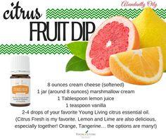 I actually prefer this recipe with 2 drops Orange Vitality essential oil vs the Citrus Fresh.