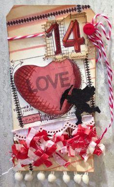 Scrapbook Territory: Tim Holtz new stamps in - Valentine Blueprints