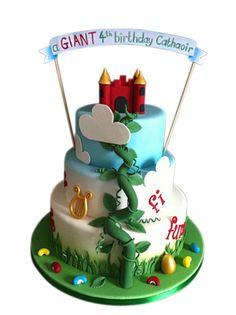 Jack and the Beanstalk Birthday Cake