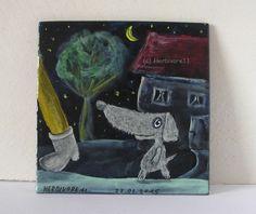 EGAL WANN, EGAL WOHIN, ICH FOLGE DIR ! von Herbivore11 Hund Minibild Inchie Dog