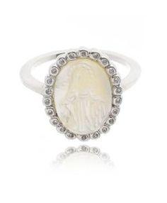 a75d890f845 anel santa madreperola rodio semi joias Aneis Da Moda