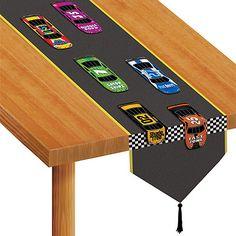 Tischdeko Tischläufer Autorennen Motorsport Motto Party Rennwagen