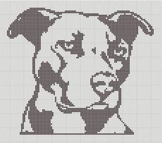 Adorable small x-stitch patterns of a pitbull or bully breed dog. Super easy only 1 colors. Pitties staffies and bully breeds! Great pattern for beginning X-stitch workers! **Pattern is downloadable, you will not receive a paper pattern.