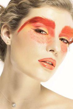 Awesome eye makeup - flamingo, phoenix