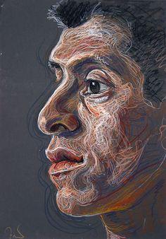Fred Hatt - Esteban- aquarelle watercolor crayon
