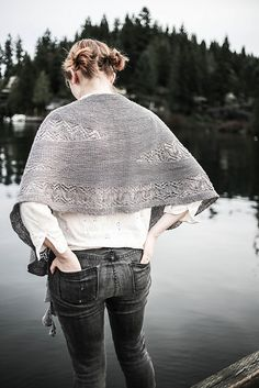 The newest Softsweater Knits short row lace shawl Water has been released! Knit Cowl, Knitted Poncho, Knitted Shawls, Lace Shawls, Knitting Scarves, Shawl Patterns, Knitting Patterns, Knitting Projects, Knitting Short Rows