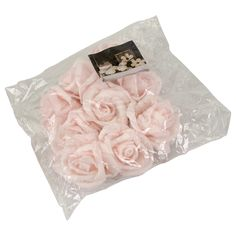 roses déco 9pcs mousse 4cm div.couleurs