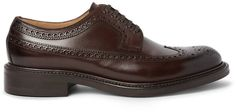 $695, Okeeffe Felix Leather Wingtip Brogues. Sold by MR PORTER. Click for more info: https://lookastic.com/men/shop_items/395353/redirect