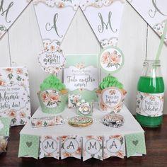 Desayunos para el Día de la Madre | Tarjetas Imprimibles Unique Birthday Gifts, Scrapbook, Banner, Packaging, Holiday Decor, Home Decor, Amor, Party, Stationery Shop