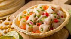 ceviche de peixe branco