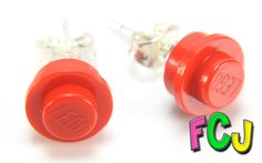 Red Stud Earrings