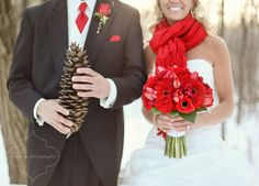 Winter Wedding Ideas. To the Bride and Groom: Red, Silver, White & Black Wedding Inspirations
