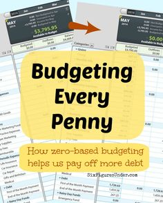 Pinner says- How and why we budget every penny!  Zero-based budgeting will let you take charge of exactly where each dollar goes. You will pay off debt faster and save more by budgeting down to zero.