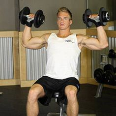 Want to shock your muscles into growth? Implement this overreaching phase into your training program for weeks and enjoy the muscle-building, fat-burning benefits! Shoulder Mass Workout, Dumbbell Shoulder Press, Shoulder Exercises, Weight Lifting Workouts, Fat Burning Workout, Fun Workouts, Traps Workout, Workout Guide, Week Workout
