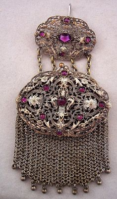 Victorian chatelaine purse.