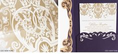 Luxury Wedding Invitations by Ceci New York - Our Muse - Old-World, Dreamy Wedding in San Francisco - Be inspired by Ekaterina & Liam's dream-like wedding in San Francisco - ceci new york, ornate, purple, gold, wedding invitations, custom wedding invitations, two-panel pocket wrap, mounted emblem, luxury wedding invitation, couture wedding invitation