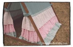 Kids Ruffle Teepee Play Tent by TeepeeandTent on Etsy...for when Sadie has her own special big girl room!