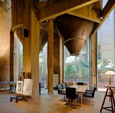 La Fábrica Ricardo Bofill   is a 3,100 m2 cement factory located near barcelona, spain, which serves as the unique backdrop to local architect ricardo bofill's studio and home.